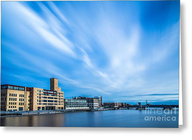 Riverwalk Greeting Cards - Fox River  Greeting Card by Andrew Slater