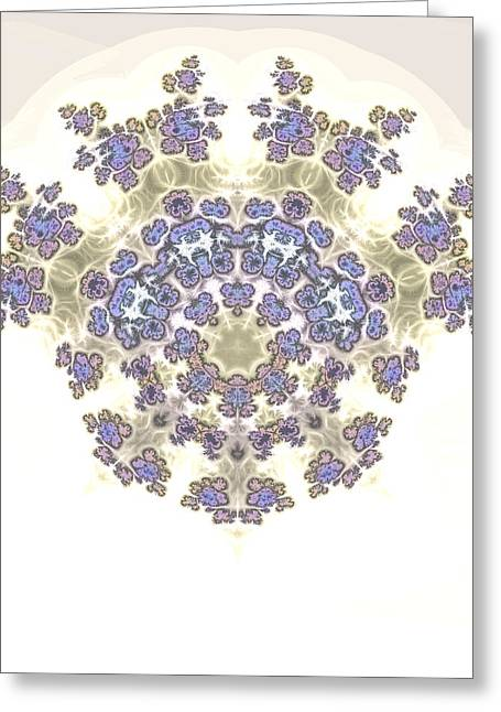 Manley Greeting Cards - Fractal Kaleidoscope Greeting Card by Gina Lee Manley