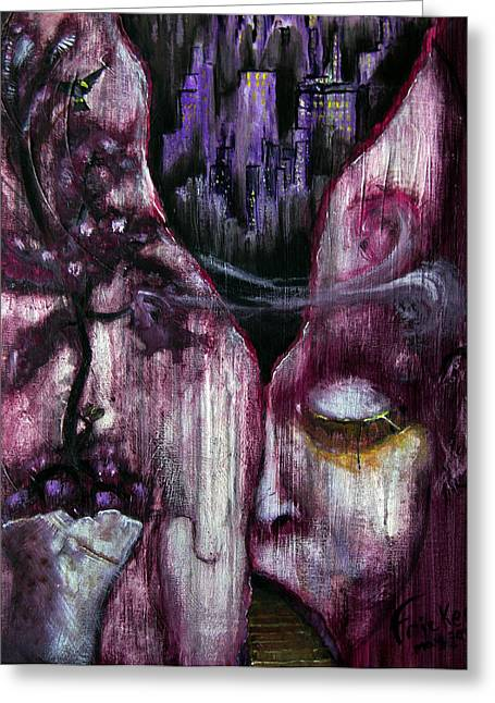 Damaging Thoughts Greeting Cards - Fracture Greeting Card by Gregory Fricker