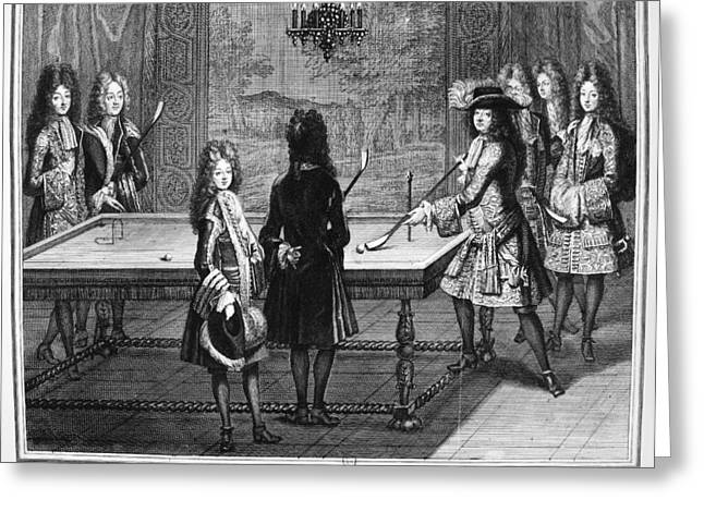 France Court Life, 1690s Greeting Card by Granger
