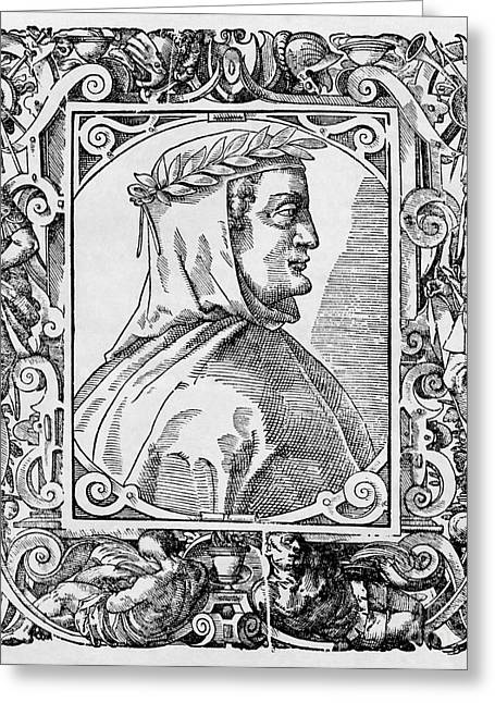 1300s Greeting Cards - Francesco Petrarch, Italian Poet Greeting Card by Middle Temple Library