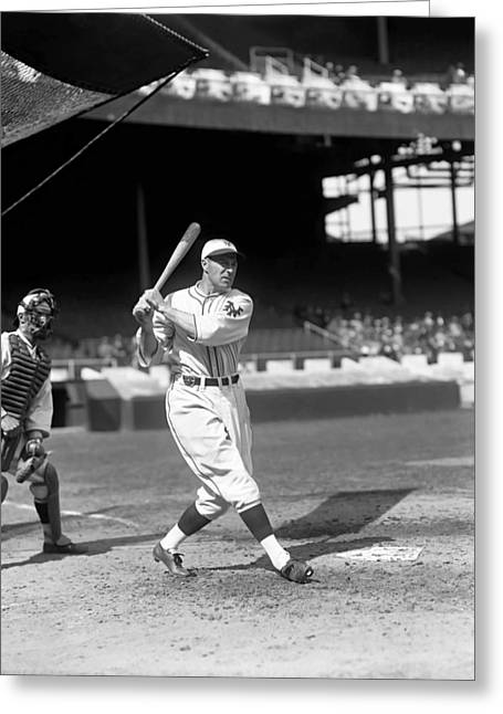 Baseball Game Greeting Cards - Francis J. Lefty ODoul Greeting Card by Retro Images Archive
