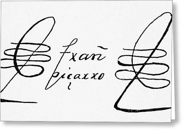 Francisco Pizarro (c1475-1541) Greeting Card by Granger