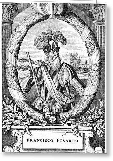 Francisco Pizarro, Spanish Explorer Greeting Card by CCI Archives
