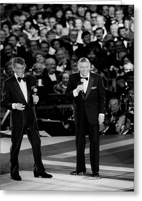 Inaugural Greeting Cards - Frank Sinatra and Dean Martin Greeting Card by Mountain Dreams