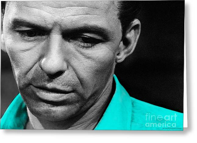 Frank Sinatra Greeting Cards - Frank Sinatra Painting Greeting Card by Marvin Blaine