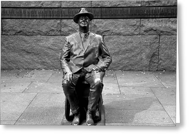 Franklin Delano Greeting Cards - Franklin Delano Roosevelt Greeting Card by Brendan Reals
