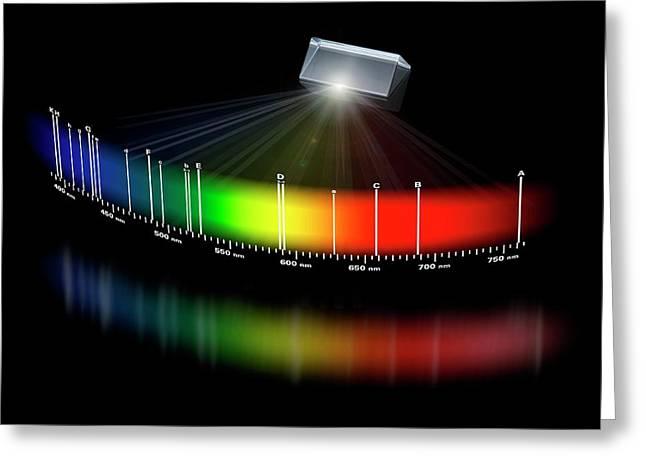 Fraunhofer Lines Greeting Card by Carlos Clarivan