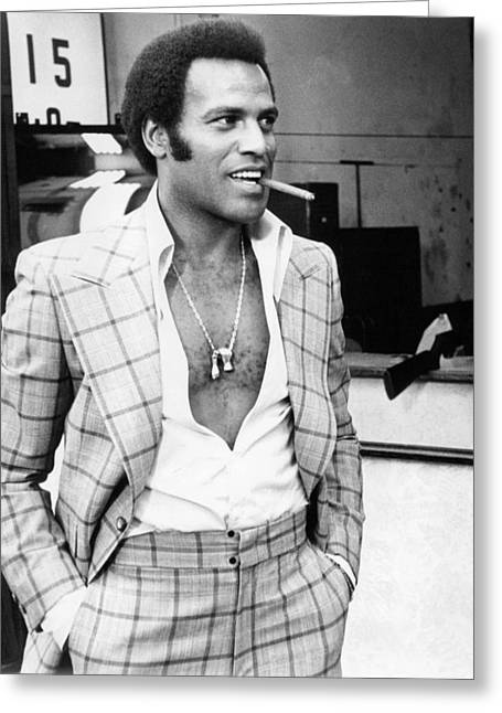 Fred Greeting Cards - Fred Williamson Greeting Card by Silver Screen