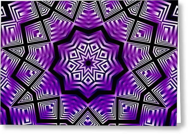 Geometric Design Greeting Cards - Free Art IV Greeting Card by Ludek Sagi Lukac