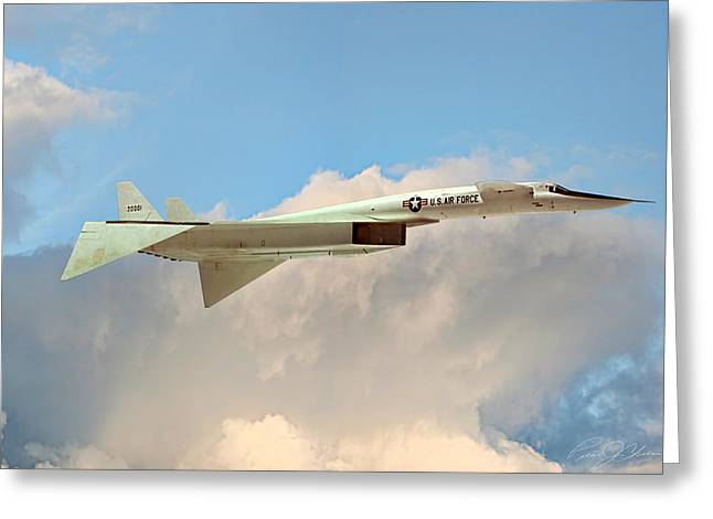 North American Aviation Greeting Cards - XB-70 Valkyrie Greeting Card by Peter Chilelli