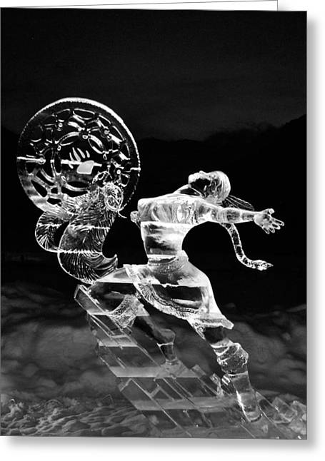 Ice Sculpture Greeting Cards - Freedom Greeting Card by Dorota Nowak