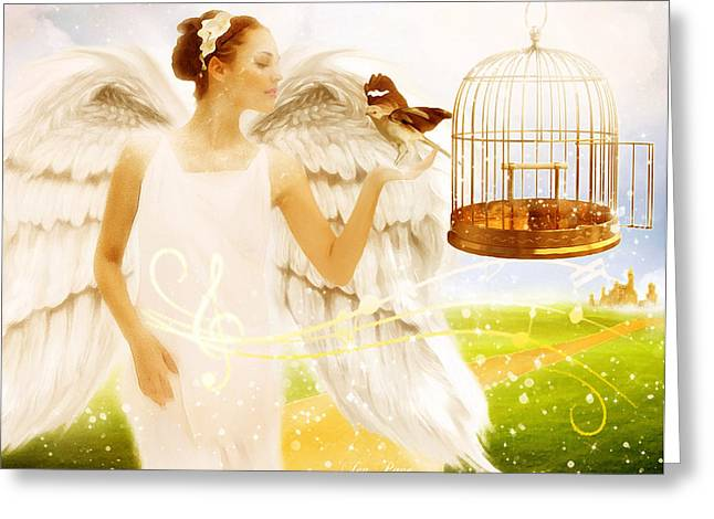 Jennifer Page Greeting Cards - Freedom Song Greeting Card by Jennifer Page