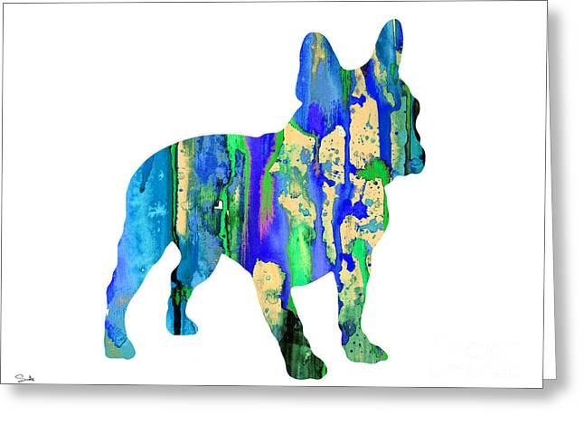 Bulldog Art Greeting Cards - French Bulldog 7 Greeting Card by Luke and Slavi