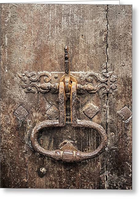 Medieval Style Greeting Cards - French Door Knocker Greeting Card by Nomad Art And  Design