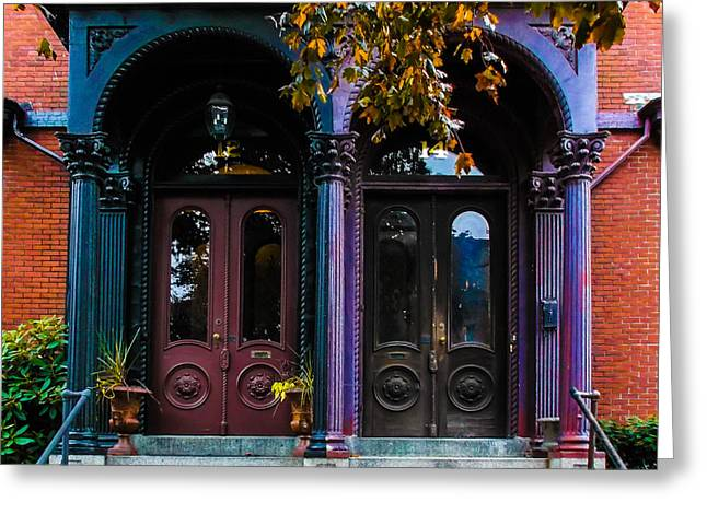 French Doors Greeting Cards - French Doors 2 Greeting Card by Andrew Dimmitt