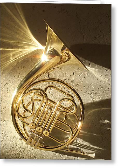 French Horn II Greeting Card by Jon Neidert
