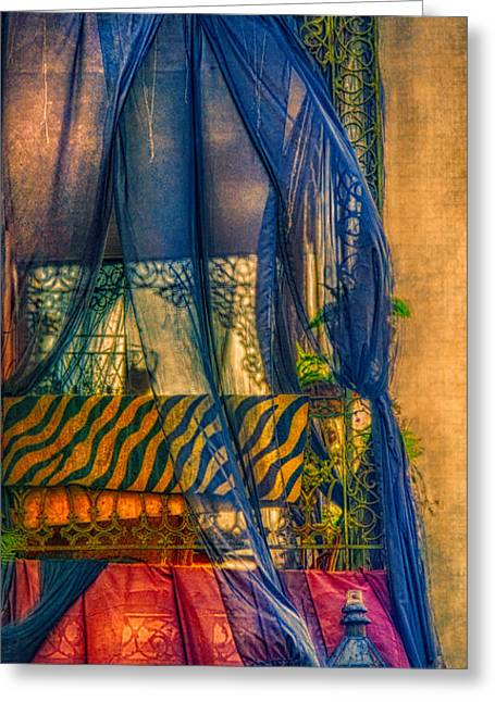 French Quarter Balcony  Greeting Card by Kathleen K Parker