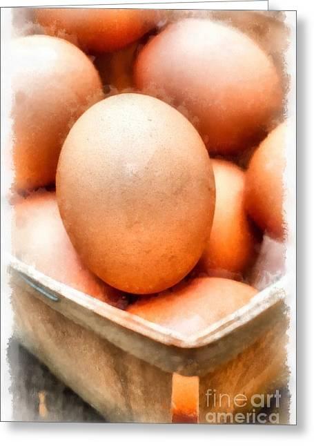 Fresh Eggs Greeting Cards - Fresh Eggs  Greeting Card by Edward Fielding