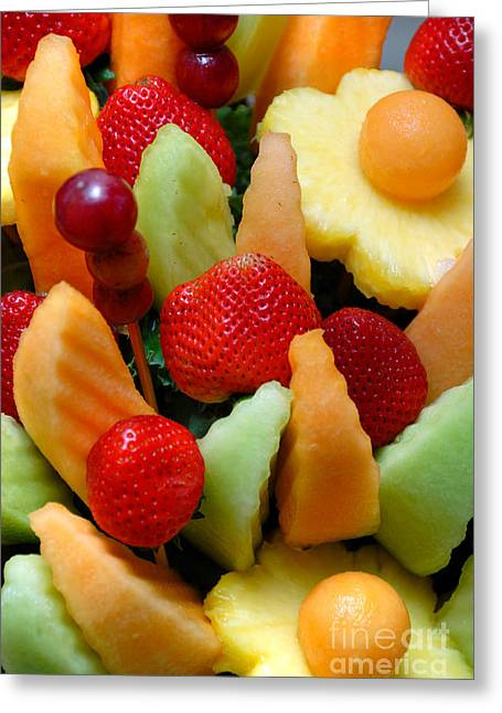 Cantaloupe Greeting Cards - Fresh Fruit Arrangement Greeting Card by Amy Cicconi