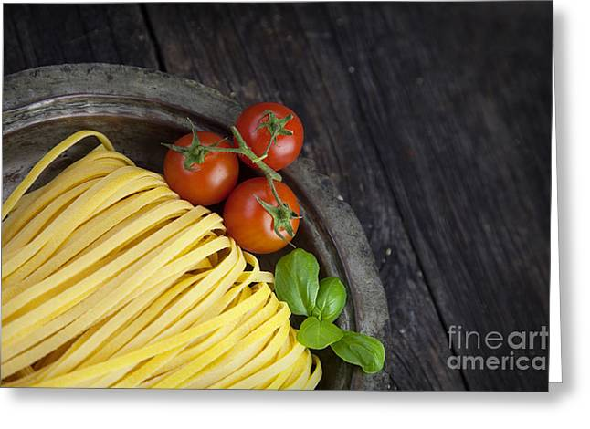 Spaghetti Noodles Greeting Cards - Fresh pasta Greeting Card by Mythja  Photography