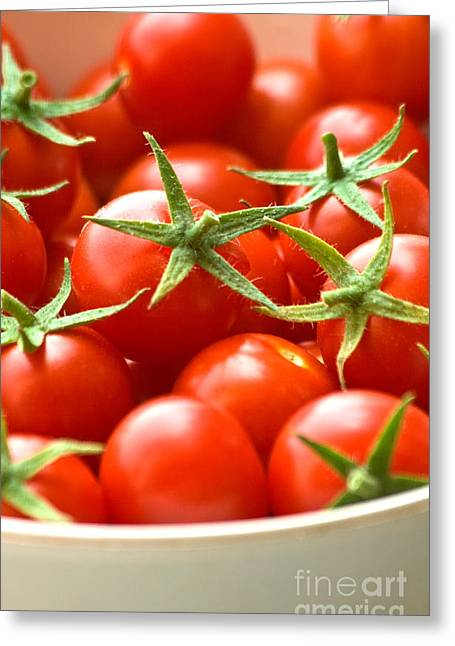Clipping Path Greeting Cards - Freshly Picked Cherry Tomatoes  Greeting Card by Leyla Ismet
