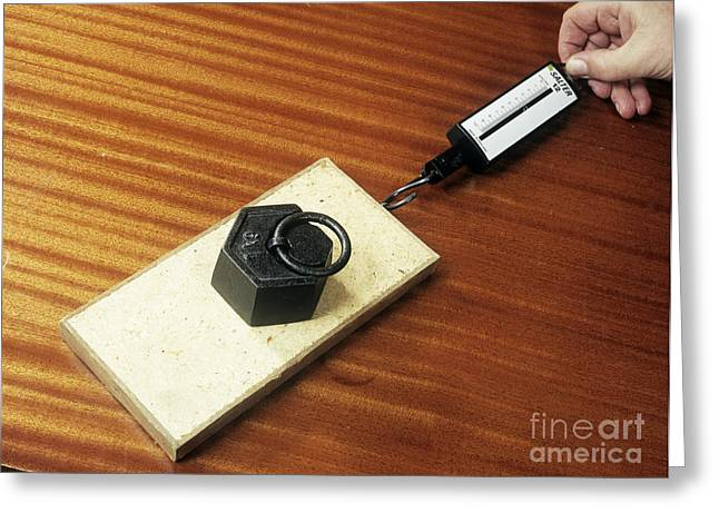 Tabletop Greeting Cards - Friction Demonstration, Image 2 Of 2 Greeting Card by Andrew Lambert Photography