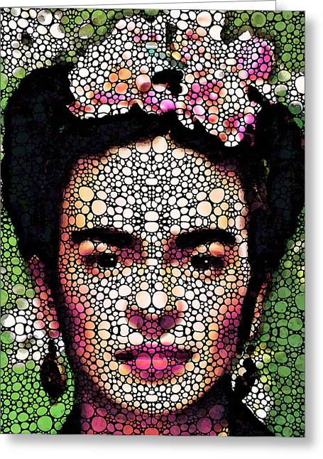 Best Sellers -  - Famous Artist Greeting Cards - Frida Kahlo Art - Define Beauty Greeting Card by Sharon Cummings