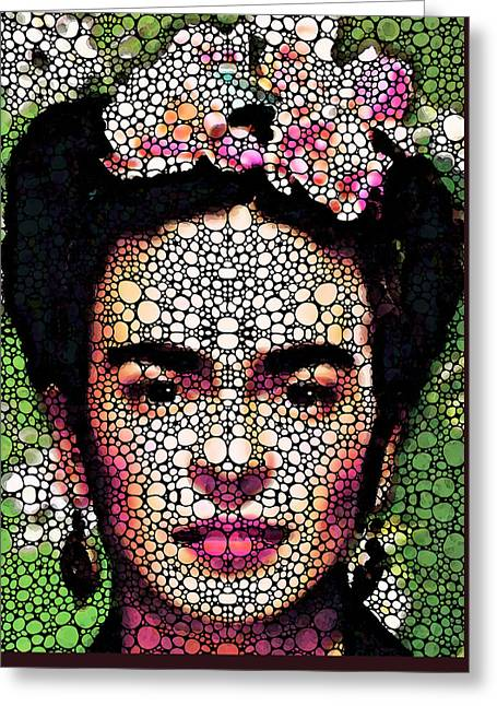 Pebbles Greeting Cards - Frida Kahlo Art - Define Beauty Greeting Card by Sharon Cummings
