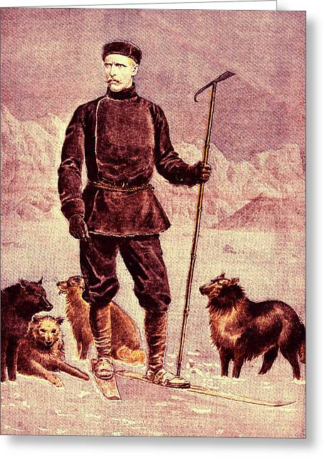 Fridtjof Nansen Greeting Card by Collection Abecasis
