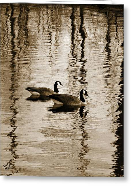 Reflection Of Trees In Water Greeting Cards - Friends Forever Greeting Card by Music of the Heart