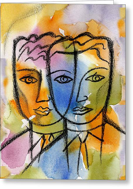 Ambiguity Greeting Cards - Friendship Greeting Card by Leon Zernitsky