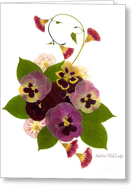 Pressed Flowers Greeting Cards - Frivolity Greeting Card by Kathie McCurdy