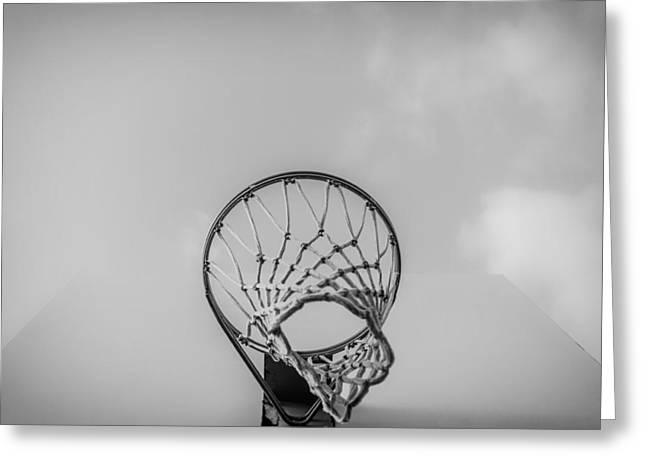 Backboards Greeting Cards - From Under the Rim Greeting Card by Ryan McGuire
