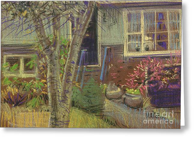 House Pastels Greeting Cards - Front Door Greeting Card by Donald Maier