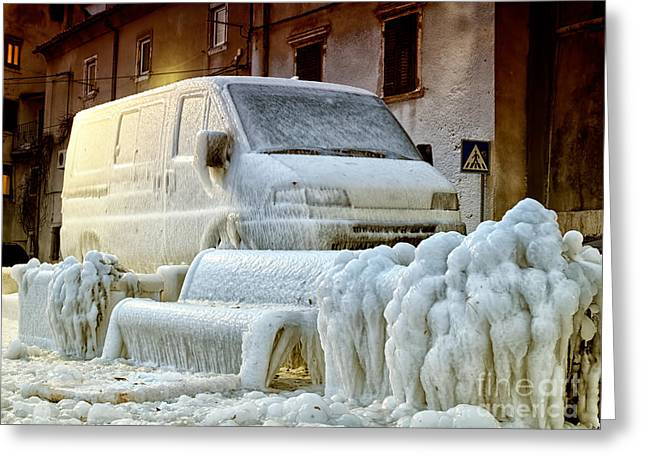 Shackle Greeting Cards - Frozen Europe Greeting Card by Sinisa Botas