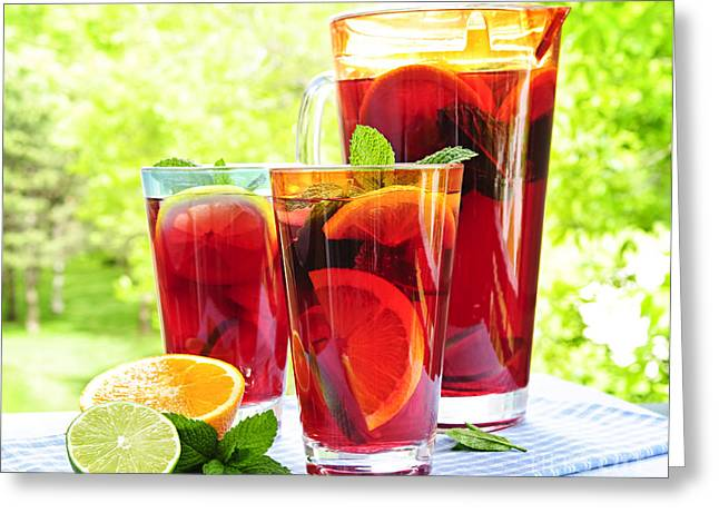 Tumbler Greeting Cards - Fruit punch  Greeting Card by Elena Elisseeva