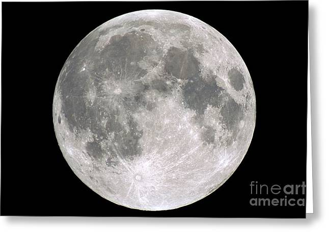 Selenology Greeting Cards - Full Moon Greeting Card by Laurent Laveder