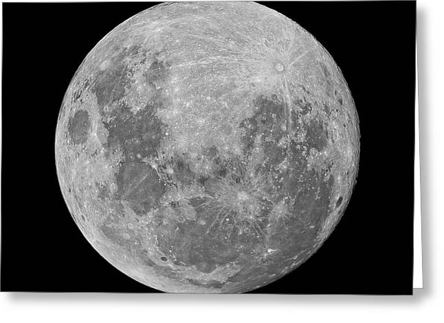 Full Moon Greeting Card by Luis Argerich