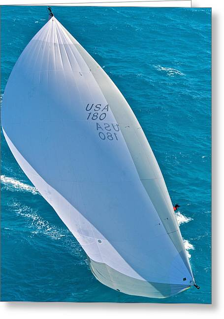 Mahogany Red Greeting Cards - Full Sails Greeting Card by Steven Lapkin