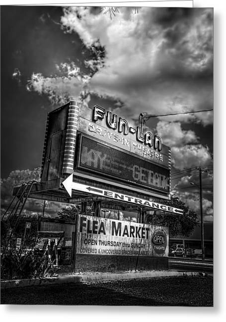 Drive In Theatre Greeting Cards - Fun-Lan Greeting Card by Marvin Spates