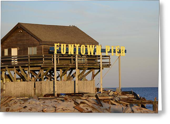 Seaside Heights Greeting Cards - Funtown Pier Greeting Card by Terry DeLuco