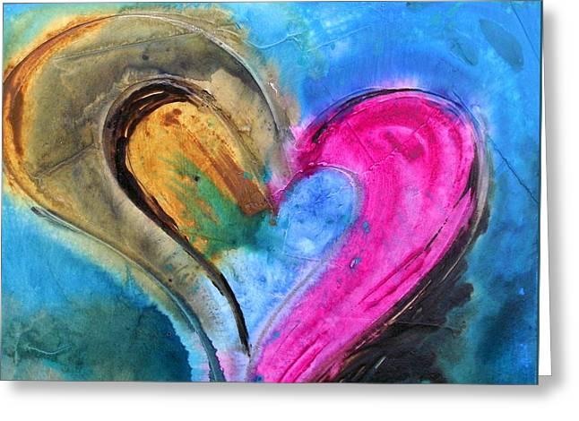 Fusion De Amor Greeting Card by Ivan Guaderrama