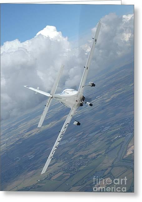Vertical Flight Greeting Cards - G-115 Tutor Basic Trainer In-flight Greeting Card by Riccardo Niccoli