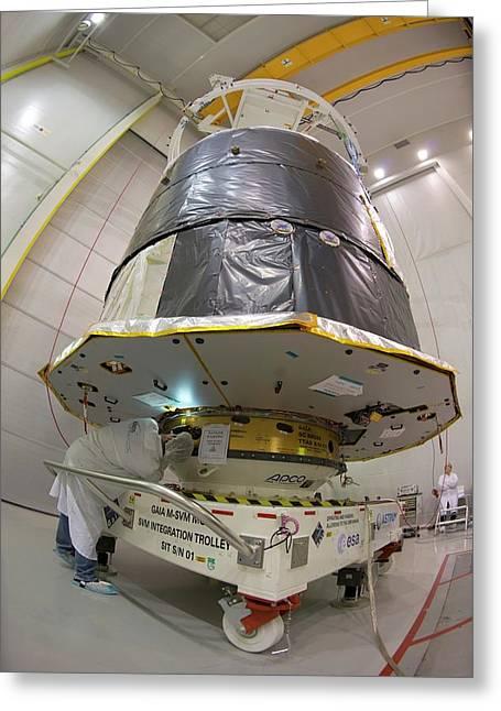 Gaia Space Probe Testing Greeting Card by S Corvaja/european Space Agency