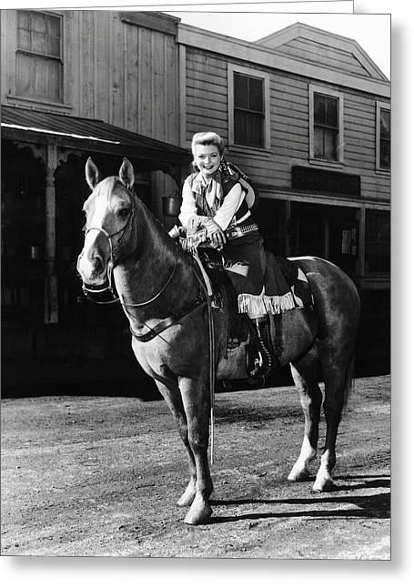 Gail Davis In Annie Oakley  Greeting Card by Silver Screen