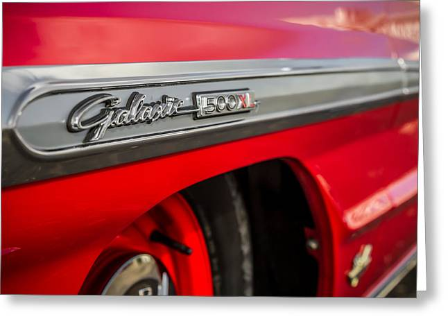 1964 Ford Emblems Greeting Cards - Galaxie 500XL Greeting Card by Ron Pate
