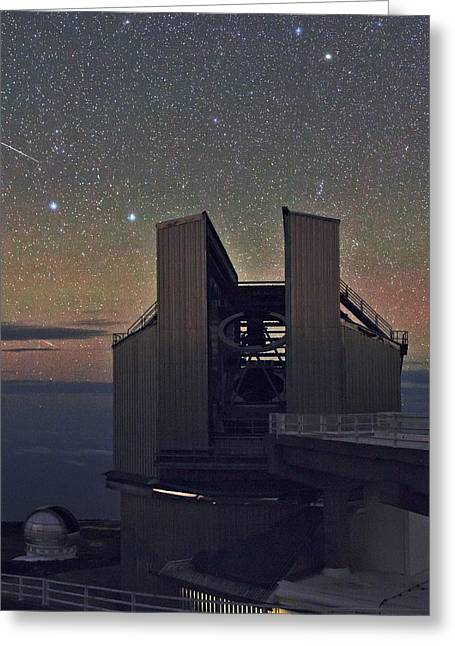 Tng Greeting Cards - Galileo telescope Greeting Card by Science Photo Library