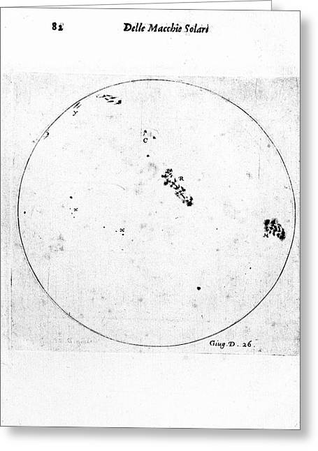Galileo's Observation Of Sunspots Greeting Card by Universal History Archive/uig