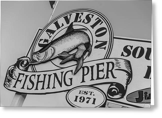 Galveston Greeting Cards - Galveston Fishing Pier Greeting Card by John McGraw